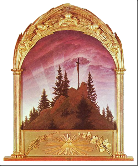Caspar David Friedrich, The Tetschen Altar, or The Cross in the Mountains