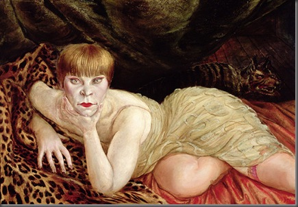 Reclining Woman on Leopard Skin