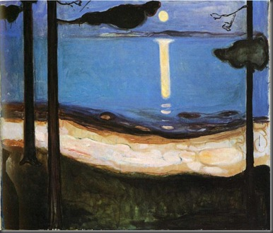 Edvard Munch. Moonlight.