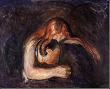 Vampire, Edvard Munch