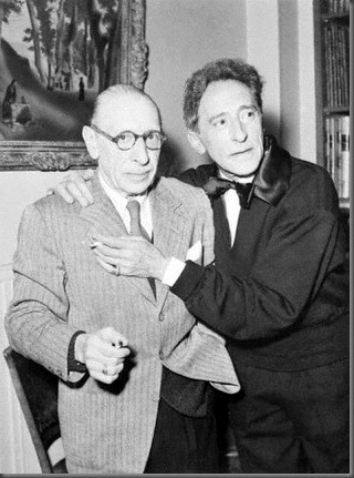 Igor Stravinsky and Jean Cocteau