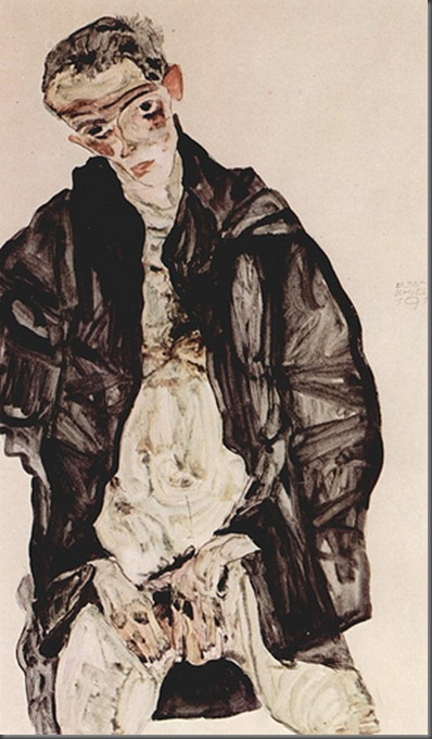 Schiele's Self Portrait, Masturbating