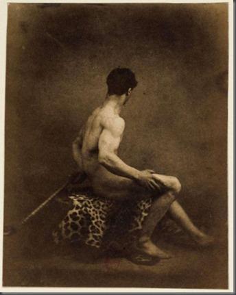 Male nude daguerreotype by Eugene Delacroix
